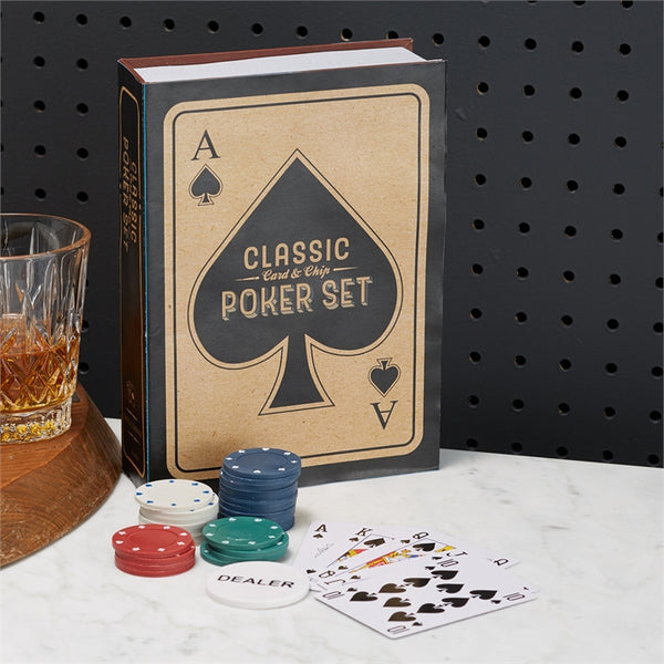 Classic Card & Chip Poker Set