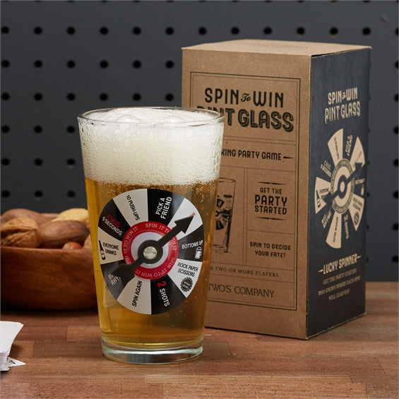 Spin to Win Pint Glass
