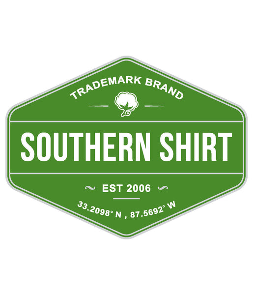 Southern Shirt Trademark Badge Sticker