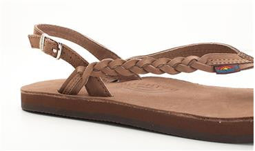 Avalon - Dark Brown Braidy with a Buckle Heel Strap