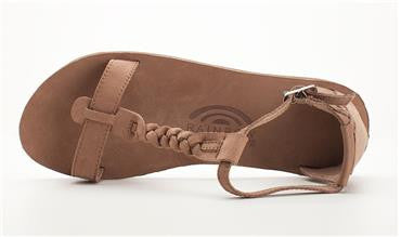Calafia - Dark Brown Single Layer with Back Buckle Heel