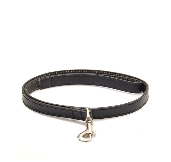 Barbour International Black Leather Dog Lead