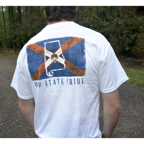 Product Image: State Flag Tee Orange/Blue Short Sleeve
