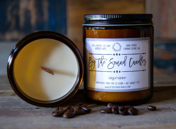 Espresso Wood Wick Soy Candle