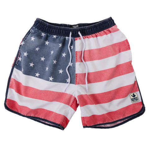Product Image: Faded American Flag Swim Trunks