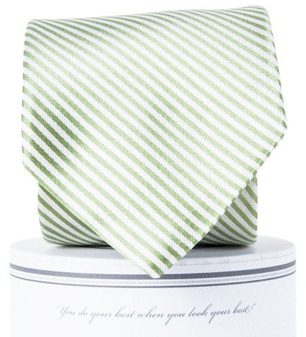 Stripes Necktie - Green
