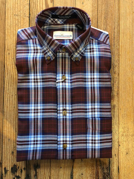 Brushed Cotton Flannel Sport Shirt
