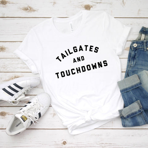 Product Image: Touchdowns and Tailgates tee