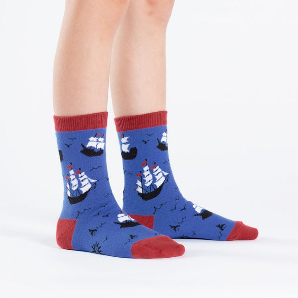 Ship Shape Junior and Youth Crew Socks