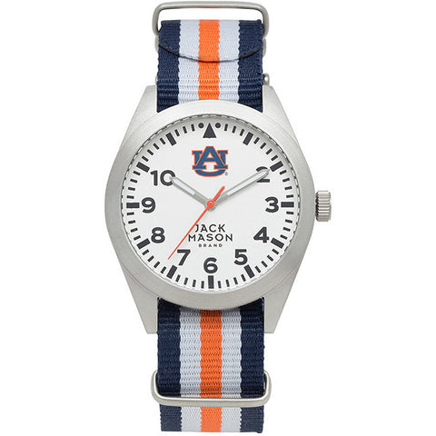 Product Image: AUBURN TIGERS MEN'S STRIPED NATO STRAP WATCH