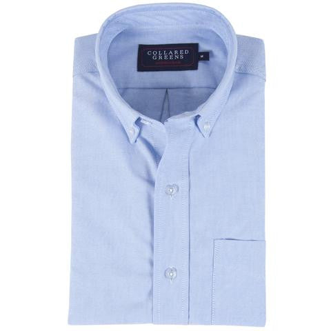 Collared Greens The Jefferson Button Down. Blue. American Made
