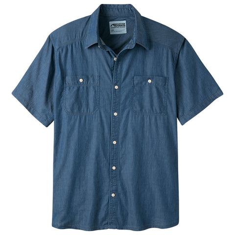 Product Image: Men's Ace Indigo Short Sleeve Shirt
