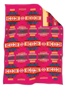 Chief Joseph Crib Blanket Cherry
