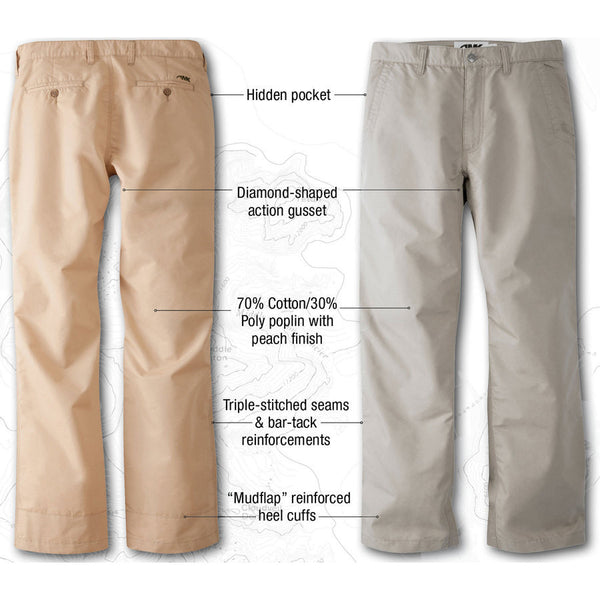 Men's Broadway/Slim Fit Poplin Pant Oatmeal