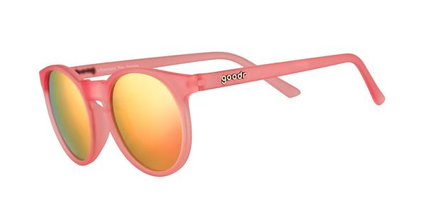 Influencers Pay Double Pink Round Mirrored Sunglasses