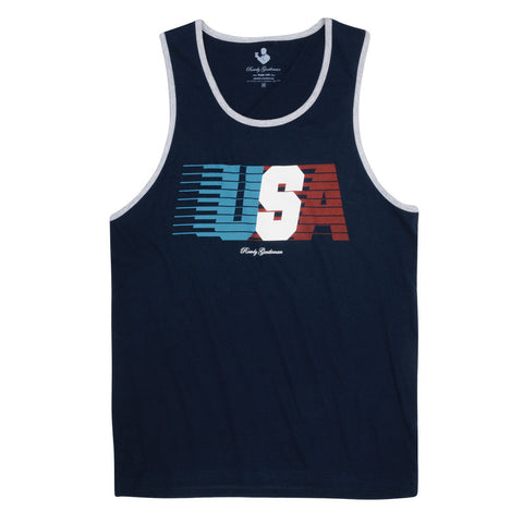 Product Image: USA Streaking Tank Top Navy