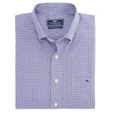 Vineyard Vines Twill Mini Check Tucker Shirt