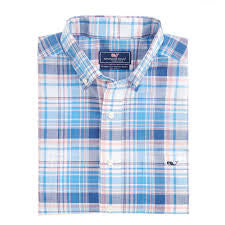 Vineyard Vines Tucker Shirt Gunwale Plaid