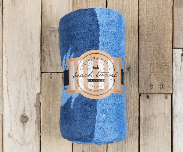 Southern Marsh Stripes Beach Towel