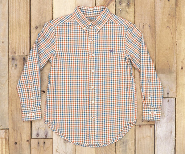 YOUTH Cashiers Washed Gingham Dress Shirt