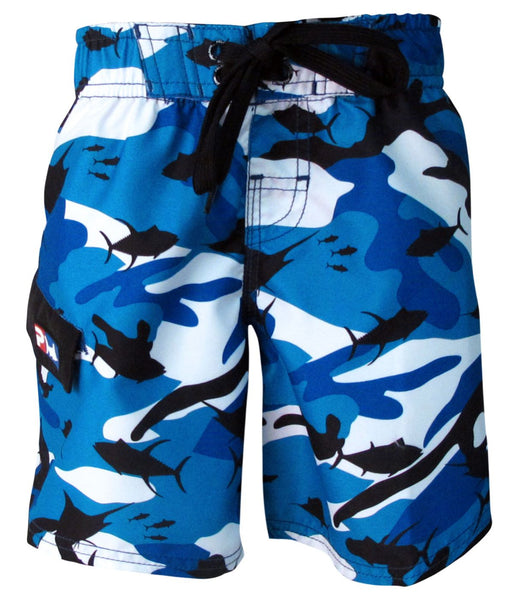 Pelagic Fish-Camo Kids Shorts