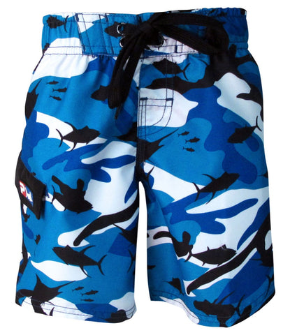 Product Image: Pelagic Fish-Camo Kids Shorts