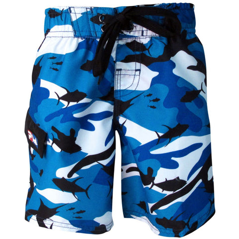 Product Image: Pelagic Fish-Camo Youth Shorts