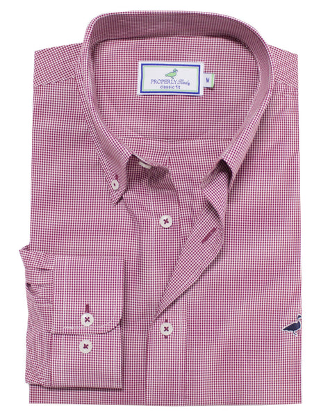 Gameday Gingham Sportshirt