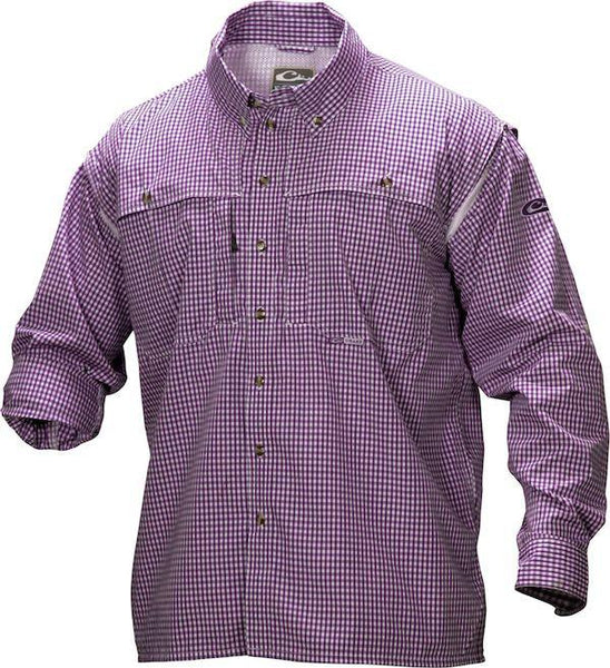 Long Sleeve Wingshooter's Gingham Game Day Shirt