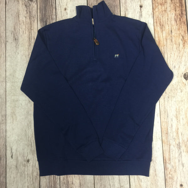 Charleston Zip Pullover in Captain's Blue