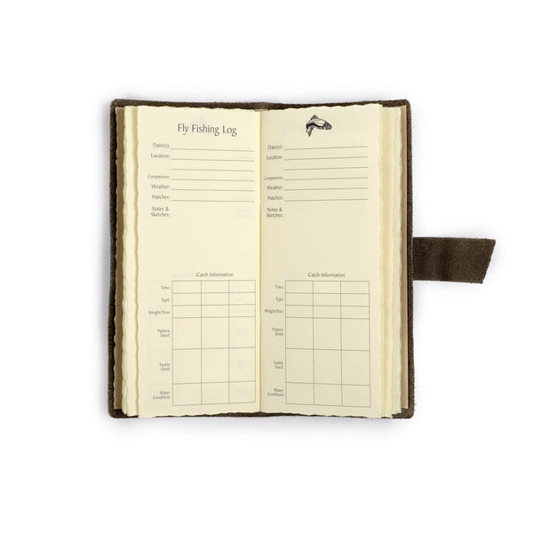 Leather Fly Fishing Log