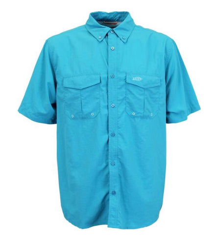 Product Image: Aftco Nimbus Solid Short Sleeve Woven Tech Shirt