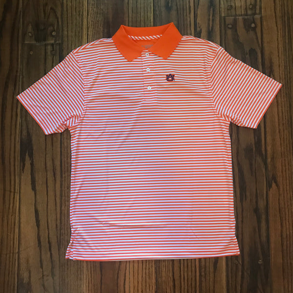 Orange and White AU Polo