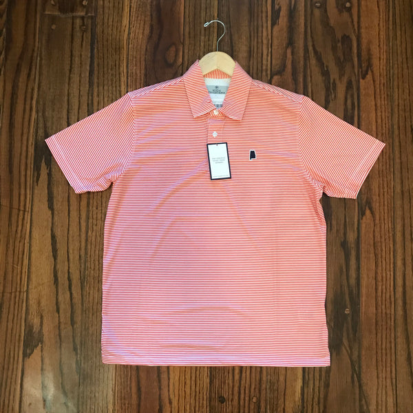 Alabama Auburn Gameday Microstripe Performance Polo