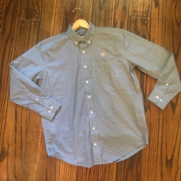 AU Blue Gingham Dress Shirt