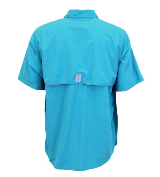 Aftco Nimbus Solid Short Sleeve Woven Tech Shirt