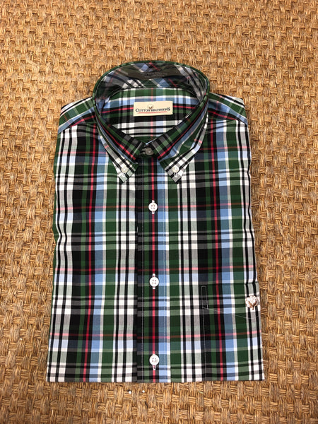 Cotton Brothers Aiken Plaid Sport Shirt