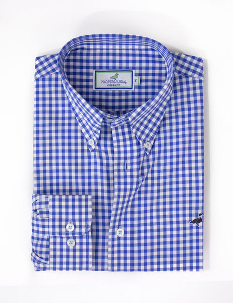 Properly Tied Signature Woven Shirt in Blue