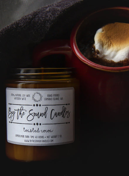 Toasted Cocoa Wood Wick Soy Candle