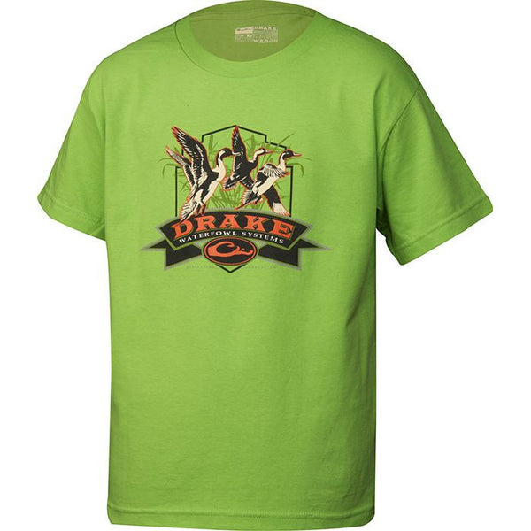 Drake Youth Pintails S/S Tee Green