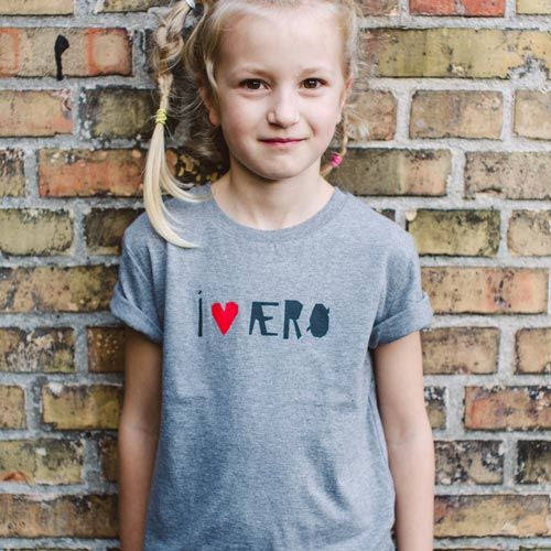 WE LOVE ÆRØ t-shirt, kids DGK
