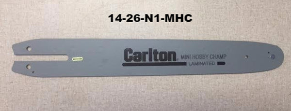 "14-26-N1-MHC CARLTON MINI HOBBY CHAMP 14"" BAR.  3/8"" PITCH, .050"" GA, 50 DL.  Alt. 14-26-N150-RK."