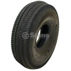 Stens 160-003.  Tire / 4.10x3.50-4 Saw Tooth 4 Ply