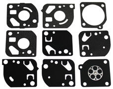 Gasket & Diaphragm K ZAMA GND-18 for Zama C1Q-P22C carburetor.  REPLACES ZAMA: GND-13, GND-14, GND-16, GND-17, GND-18.  MTD 791-180091.