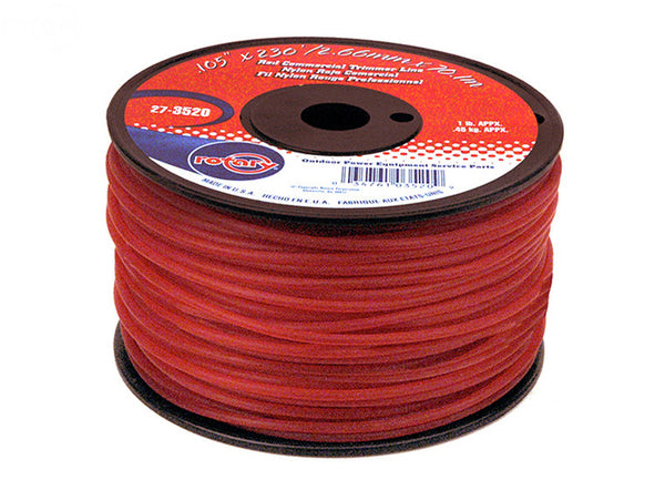 Rotary 3520. TRIMMER LINE  .105 1LB SPOOL RED COMMERCIAL