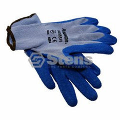 STENS 751-024.  Heavy-Duty Glove Medium / Rubber Palm Coated String Knit