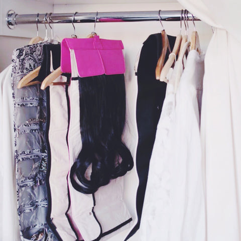 hair extension storage