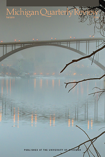 Fall 2015 cover. Bridge over the Mississippi at Saint Paul. Photo by Sue Vruno.