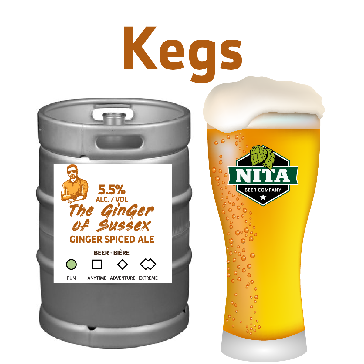 The Ginger of Sussex - Kegs