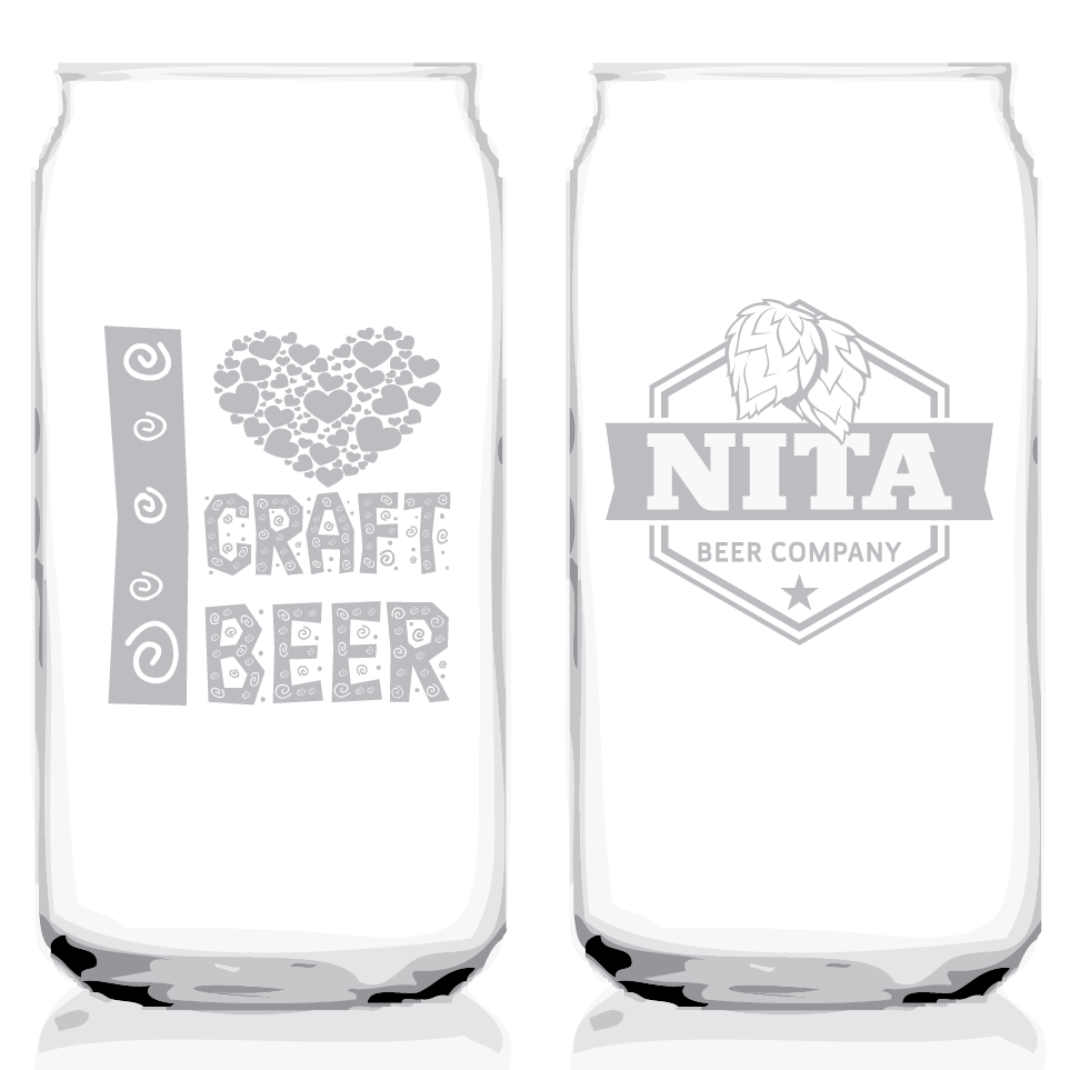 Glass - Beer Can Glass